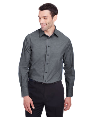Devon & Jones Men's Crown  Collection™ Stretch Pinpoint Chambray Shirt - DG562