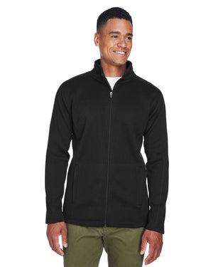 Devon & Jones Men's Bristol Full-Zip Sweater Fleece Jacket - DG793