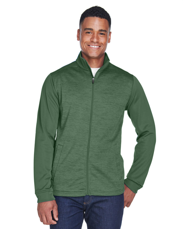 Devon & Jones Men's Newbury Colorblock Mélange Fleece Full-Zip - DG796