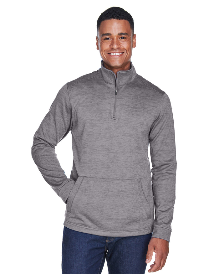 Devon & Jones Men's Newbury Mélange Fleece Quarter-Zip - DG798