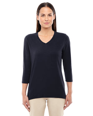 Devon & Jones Ladies' Perfect Fit™ Bracelet-Length V-Neck Top - DP184W