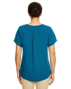 Devon & Jones Ladies' Perfect Fit™  Short-Sleeve Crepe Blouse - DP612W