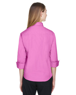 Devon & Jones Ladies' Perfect Fit™ 3/4-Sleeve Stretch Poplin Blouse - DP625W