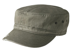District Distressed Military Hat.  DT605