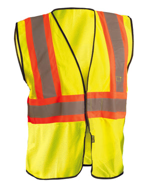 OccuNomix Men's High Visibility Value Two-Tone Safety Mesh Vest - ECOGC2T