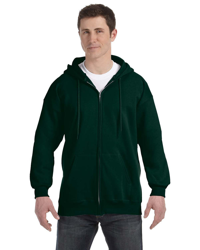 Hanes Adult 9.7 oz. Ultimate Cotton® 90/10 Full-Zip Hood - F280