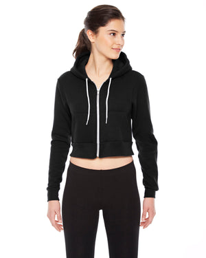 American Apparel Ladies' Cropped Flex Fleece Zip Hoodie - F397W
