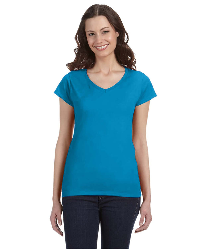 Gildan Ladies' SoftStyle® 4.5 oz. Fitted V-Neck T-Shirt - G64VL