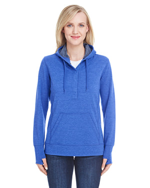 J America Ladies' Omega Stretch Snap-Placket Hood - JA8431