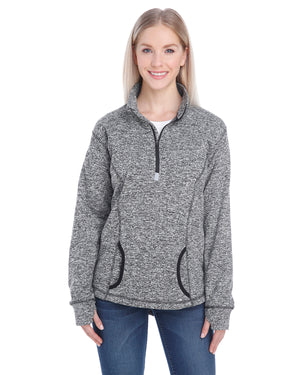 J America Ladies' Cosmic Fleece Quarter-Zip - JA8617