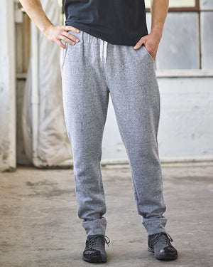 J America Adult Peppered Fleece Jogger - JA8705
