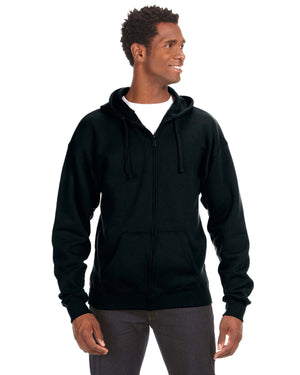 J America Adult Premium Full-Zip Fleece Hood - JA8821