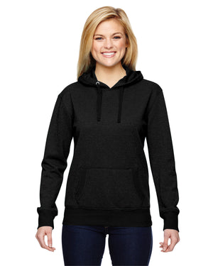 J America Ladies' Glitter French Terry Hood - JA8860