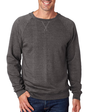 J America Men's Triblend Fleece Crew - JA8875