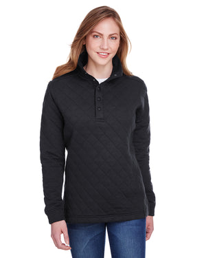 J America Ladies' Quilted Snap Pullover - JA8891