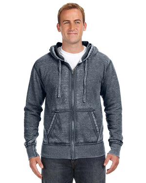 J America Adult Vintage Zen Full-Zip Fleece Hood - JA8916