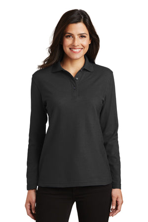 Port Authority Ladies  Silk Touch Long Sleeve Polo.  L500LS