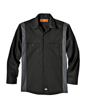 Dickies Unisex Tall Industrial Color Block Long-Sleeve Shirt - LL524T