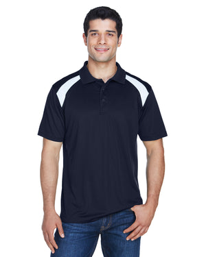 Harriton Adult 4 oz. Polytech Colorblock Polo - M318