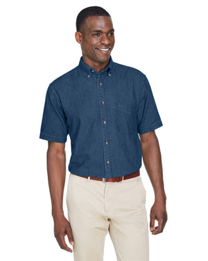 Harriton Men's 6.5 oz. Short-Sleeve Denim Shirt - M550S