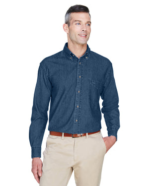 Harriton Men's 6.5 oz. Long-Sleeve Denim Shirt - M550