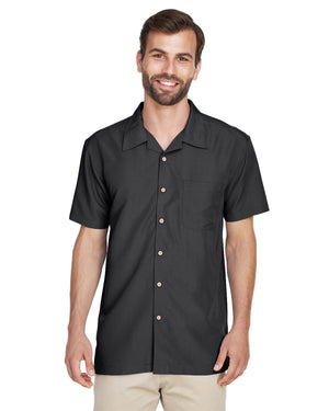 Harriton Men's Barbados Textured Camp Shirt - M560