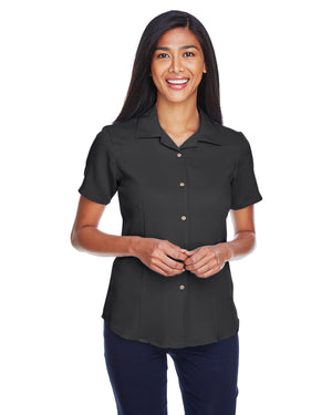Harriton Ladies' Bahama Cord Camp Shirt - M570W