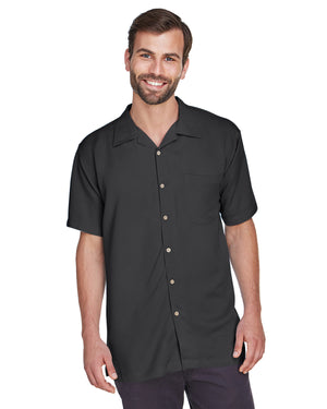 Harriton Men's Bahama Cord Camp Shirt - M570