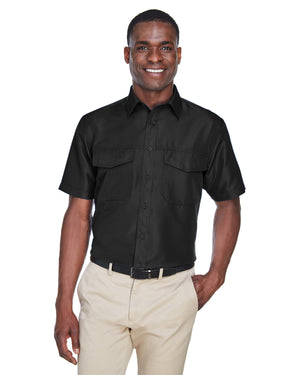 Harriton Men's Key West Short-Sleeve Performance Staff Shirt - M580