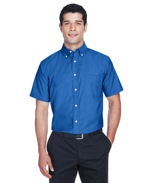 Harriton Men's Short-Sleeve Oxford with Stain-Release - M600S