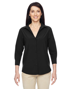 Harriton Ladies' Paradise 3/4-Sleeve Performance Shirt - M610W