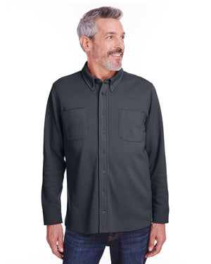 Harriton Adult StainBloc™ Pique Fleece Shirt-Jacket - M708