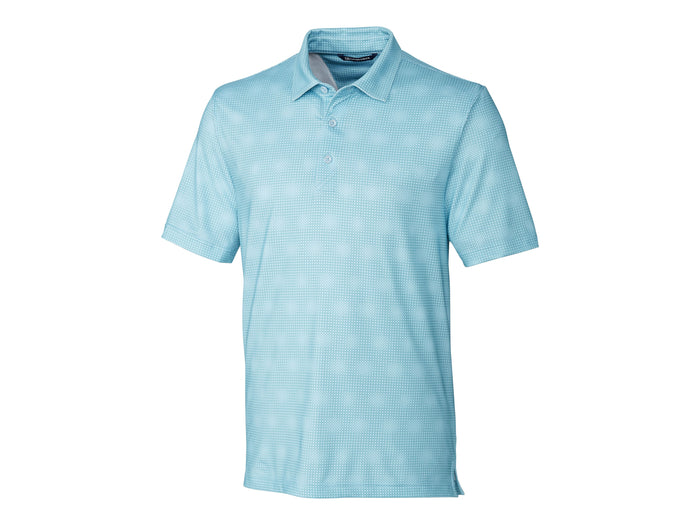 Cutter & Buck Pike Geo Grid Print Polo - MCK01057