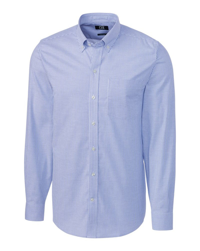 Cutter & Buck L/S Tailored Fit Stretch Oxford Stripe - MCW00142