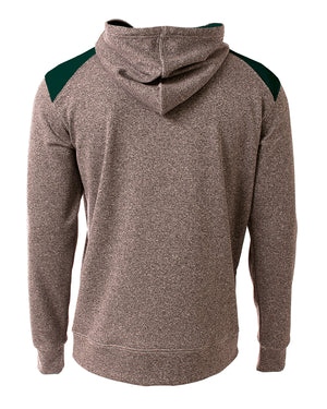A4 Men's Tourney Color Block Tech Fleece Hooded Sweatshirt - N4093