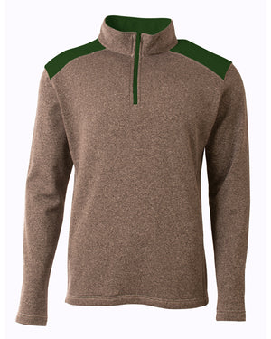 A4 Men's Tourney Fleece Quarter-Zip Pullover - N4094