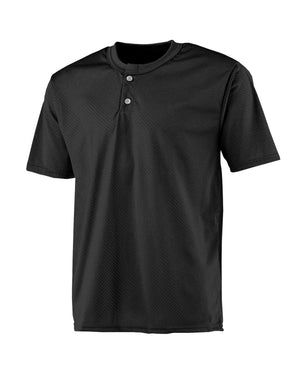 A4 Youth 2-Button Mesh Henley Jersey - NB4130