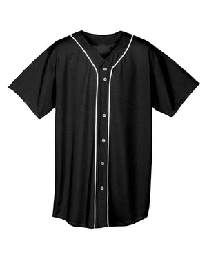 A4 Youth Short Sleeve Full Button Baseball Jersey - NB4184