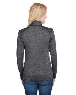 A4 Ladies' Tonal Space-Dye Quarter-Zip - NW4010