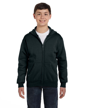 Hanes Youth 7.8 oz. EcoSmart® 50/50 Full-Zip Hood - P480