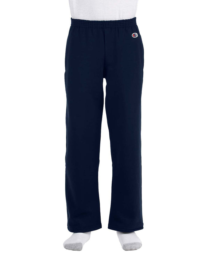 Champion Youth 9 oz. Double Dry Eco® Open-Bottom Fleece Pant - P890