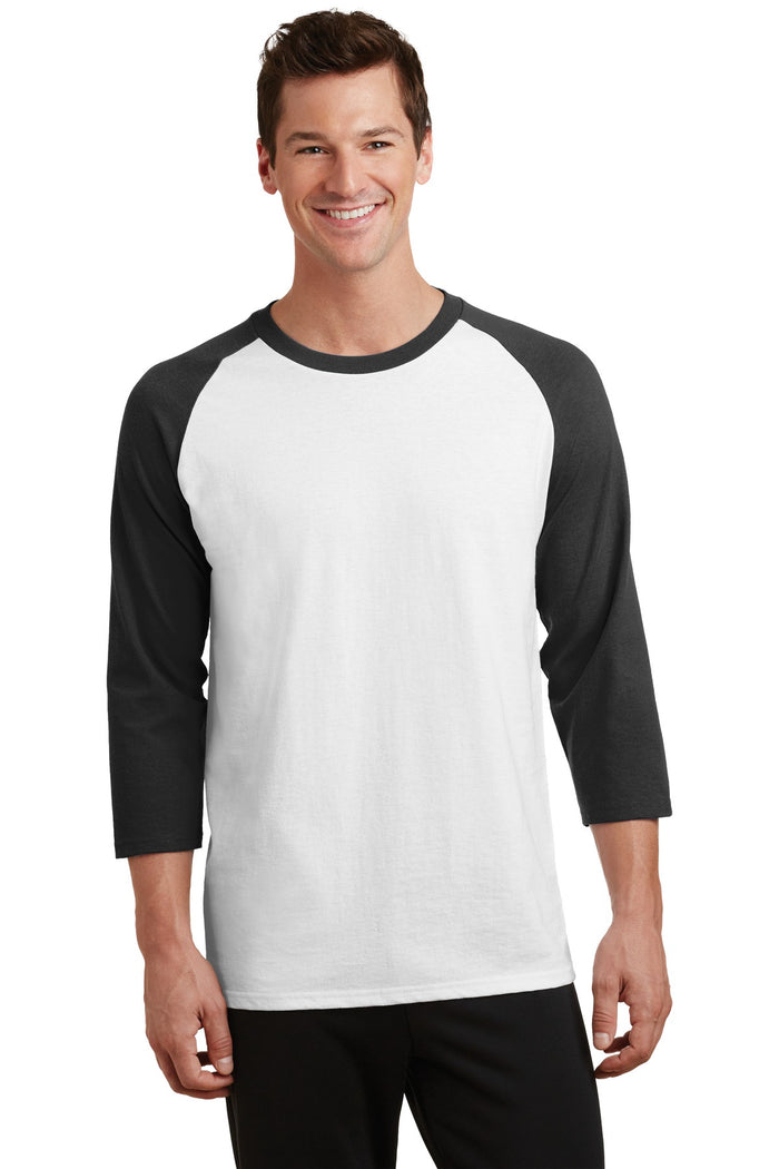 Port & Company Core Blend 3/4-Sleeve Raglan Tee. PC55RS