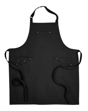 Artisan Collection by Reprime Unisex Cotton Chino Bib Apron - RP132