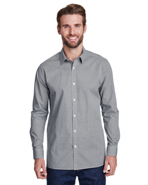 Artisan Collection by Reprime Men's Microcheck Gingham Long-Sleeve Cotton Shirt - RP220