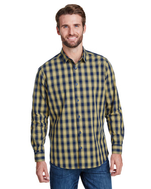 Artisan Collection by Reprime Men's Mulligan Check Long-Sleeve Cotton Shirt - RP250