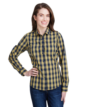 Artisan Collection by Reprime Ladies' Mulligan Check Long-Sleeve Cotton Shirt - RP350