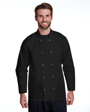 Artisan Collection by Reprime Unisex Studded Front Long-Sleeve Chef's Coat - RP665