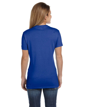 Hanes Ladies' 4.5 oz., 100% Ringspun Cotton nano-T® V-Neck T-Shirt - S04V