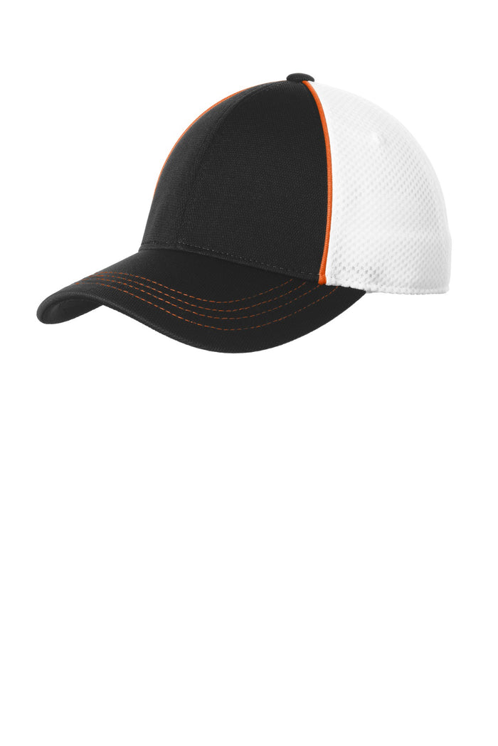 Sport-Tek Piped Mesh Back Cap. STC29