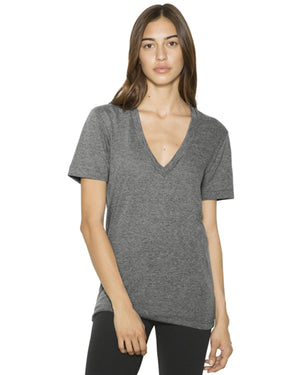 American Apparel Unisex Tri-Blend Short-Sleeve Deep V-Neck T-Shirt - TR456W